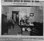 Dr. E. Y. Anthony's medical office in Omaha, Texas in 1908.